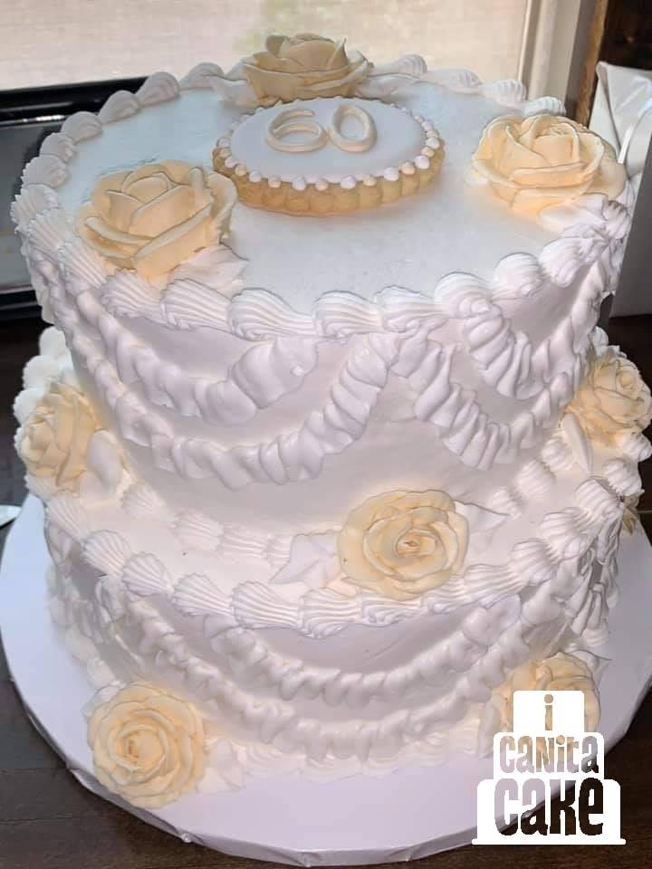60 Year Anniversary Cake