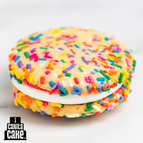 Happy Sprinkle Cookie Sandwich by I Canita Cake