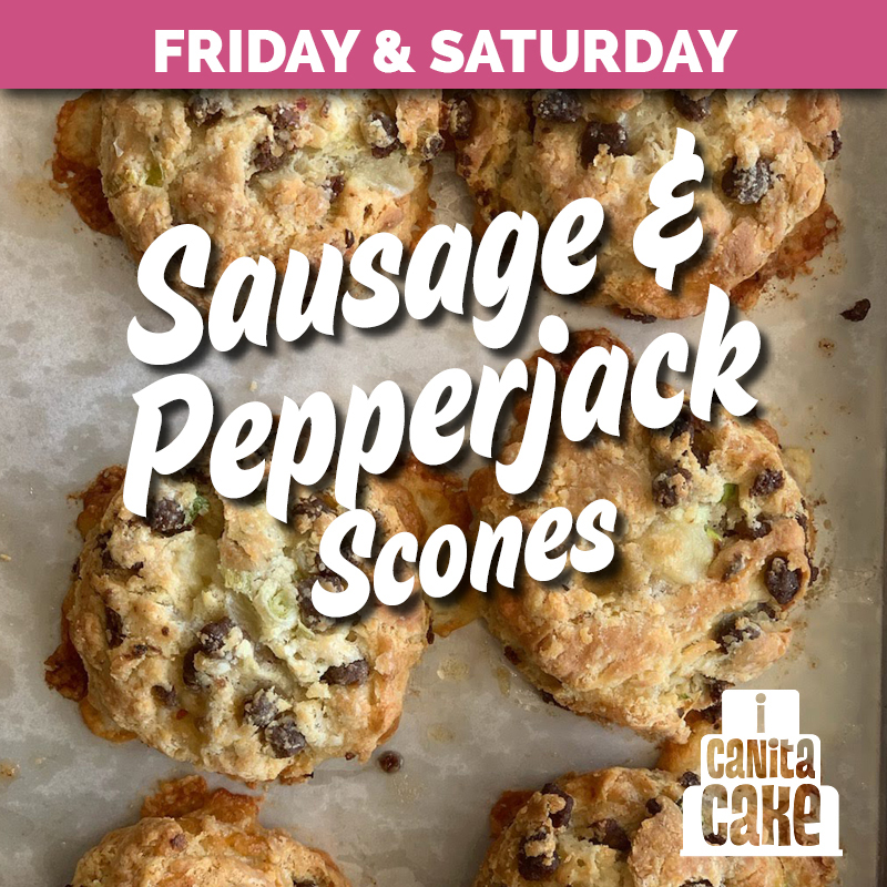 Sausage and Pepper-jack Scones