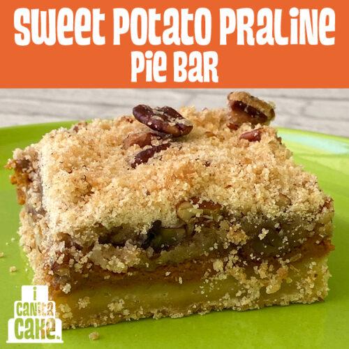 Sweet Potato Praline Pie Bar