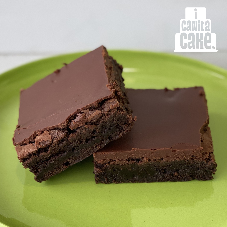 Chocolate Ganache Brownies by I Canita Cake