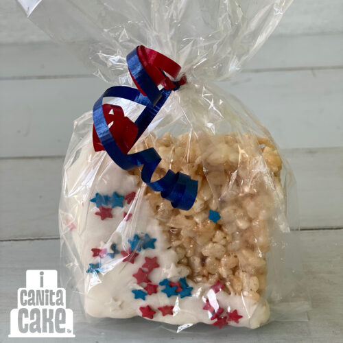 Patriotic Dipped Cereal Treat by I Canita Cake