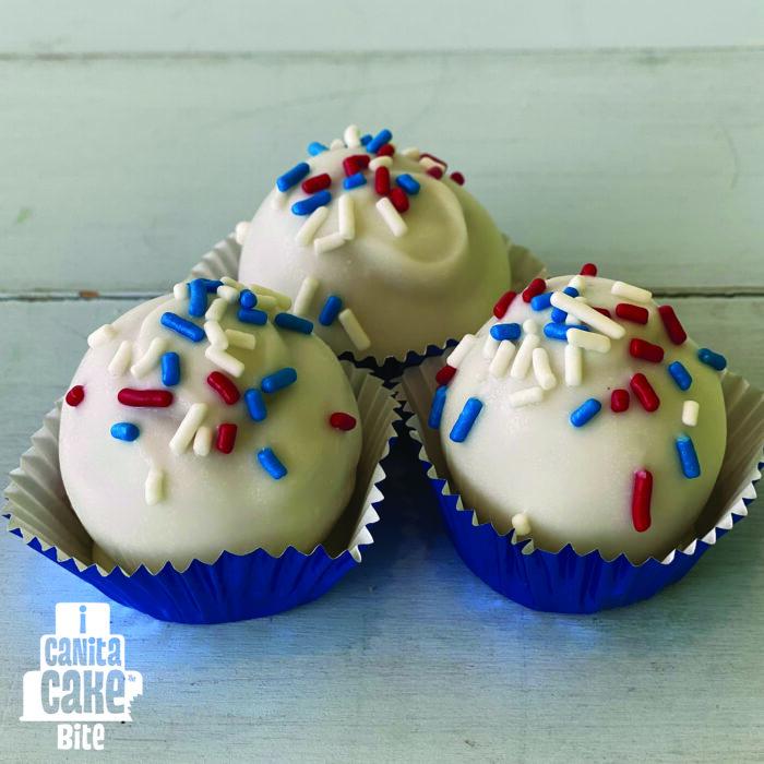 Patriotic Funfetti Cake Bites by I Canita Cake