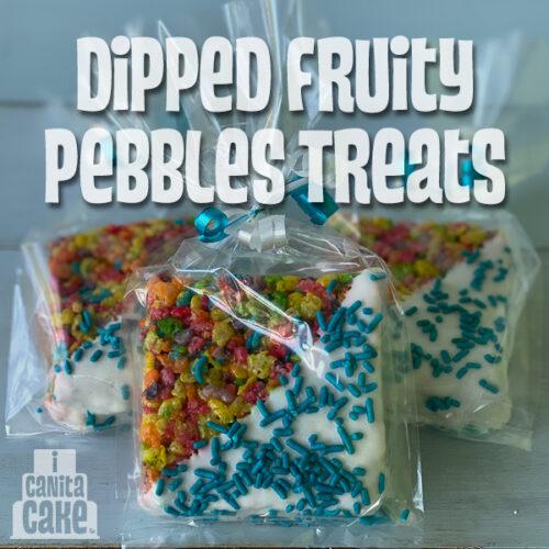Dipped Fruity Pebbles Treats by I Canita Cake