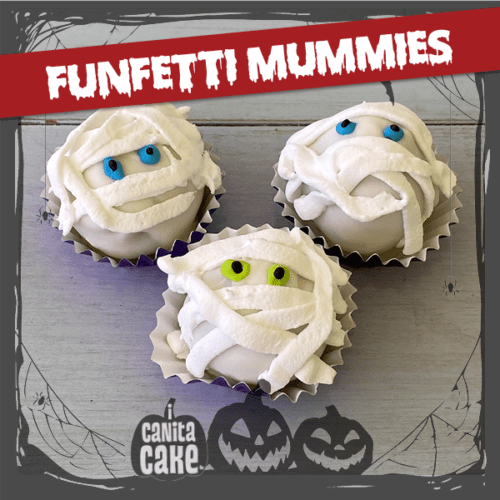 Funfetti Mummies cake bites by I Canita Cake